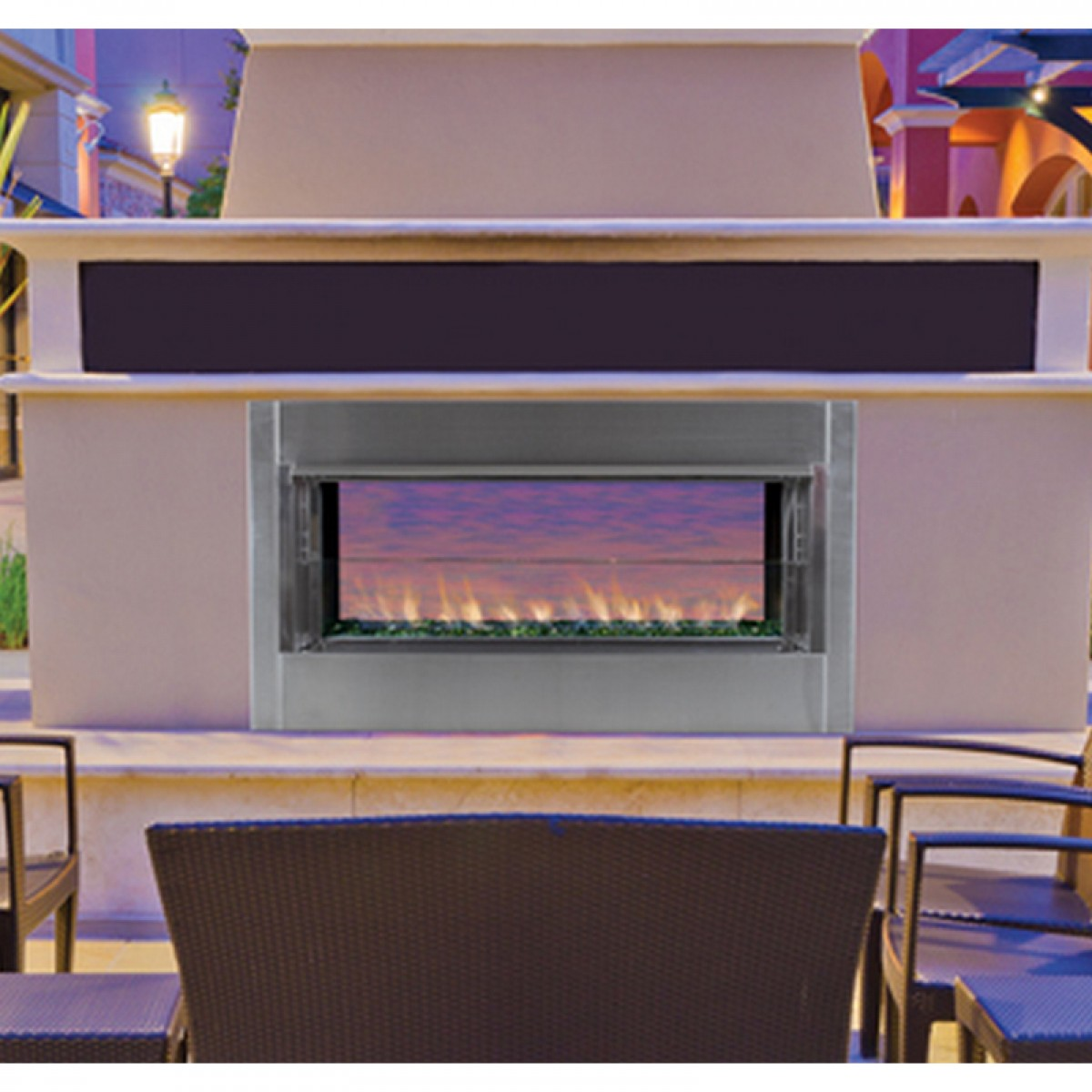 Outdoor Gas Fireplaces Ihp Superior Vre4543 Linear Vent Free Outdoor Gas Fireplace