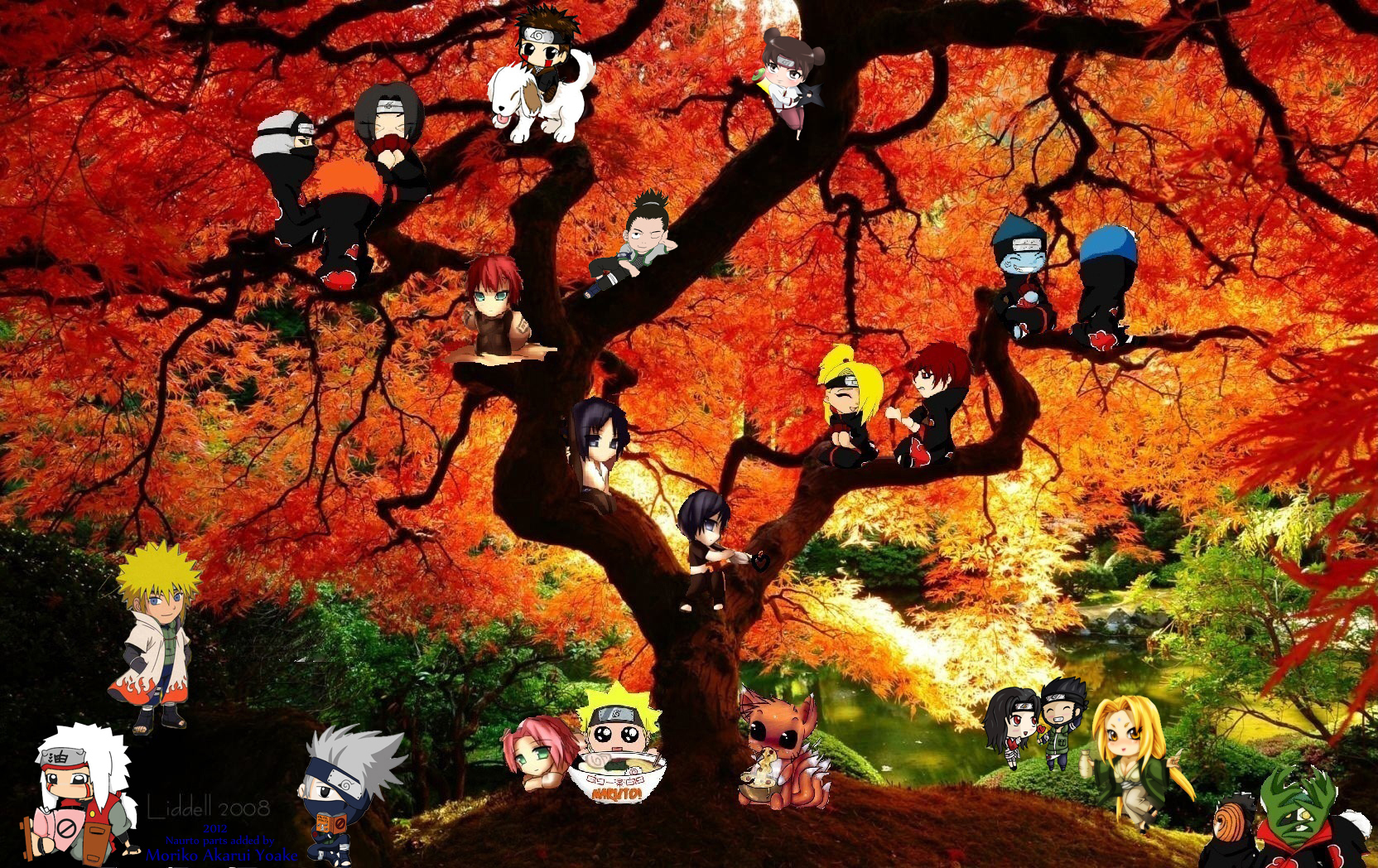 Naruto Shippuden All Girls Wallpaper Naruto Background I Made Moriko Yoake Gazette Jrock Stories