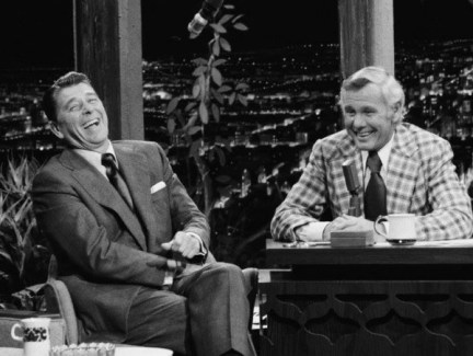 Image result for Johnny carson and Ronald Reagan