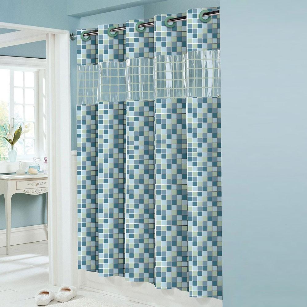 Hookless peva shower curtain decor ideasdecor ideas