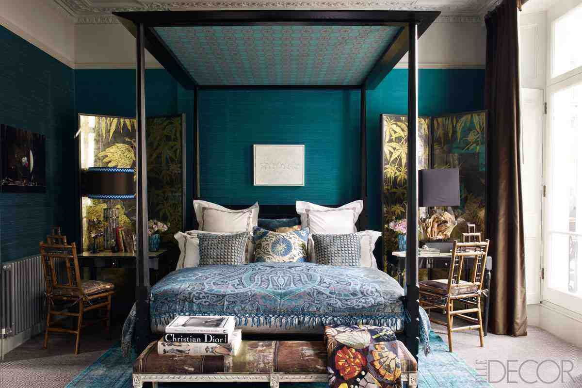 Wandfarbe Deep Dark Teal Bedroom Ideas Decor Ideasdecor Ideas