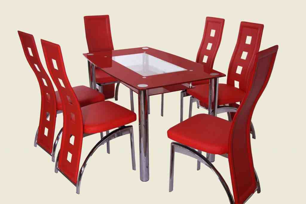 Red Kitchen Table and Chairs
