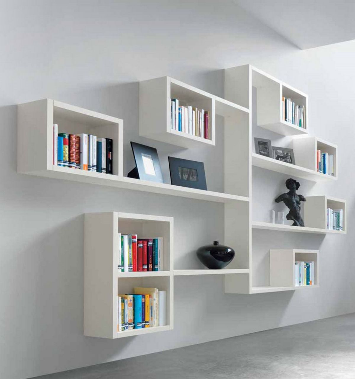 Bookshelves On Wall Wall Mounted Shelving Systems Decor Ideasdecor Ideas