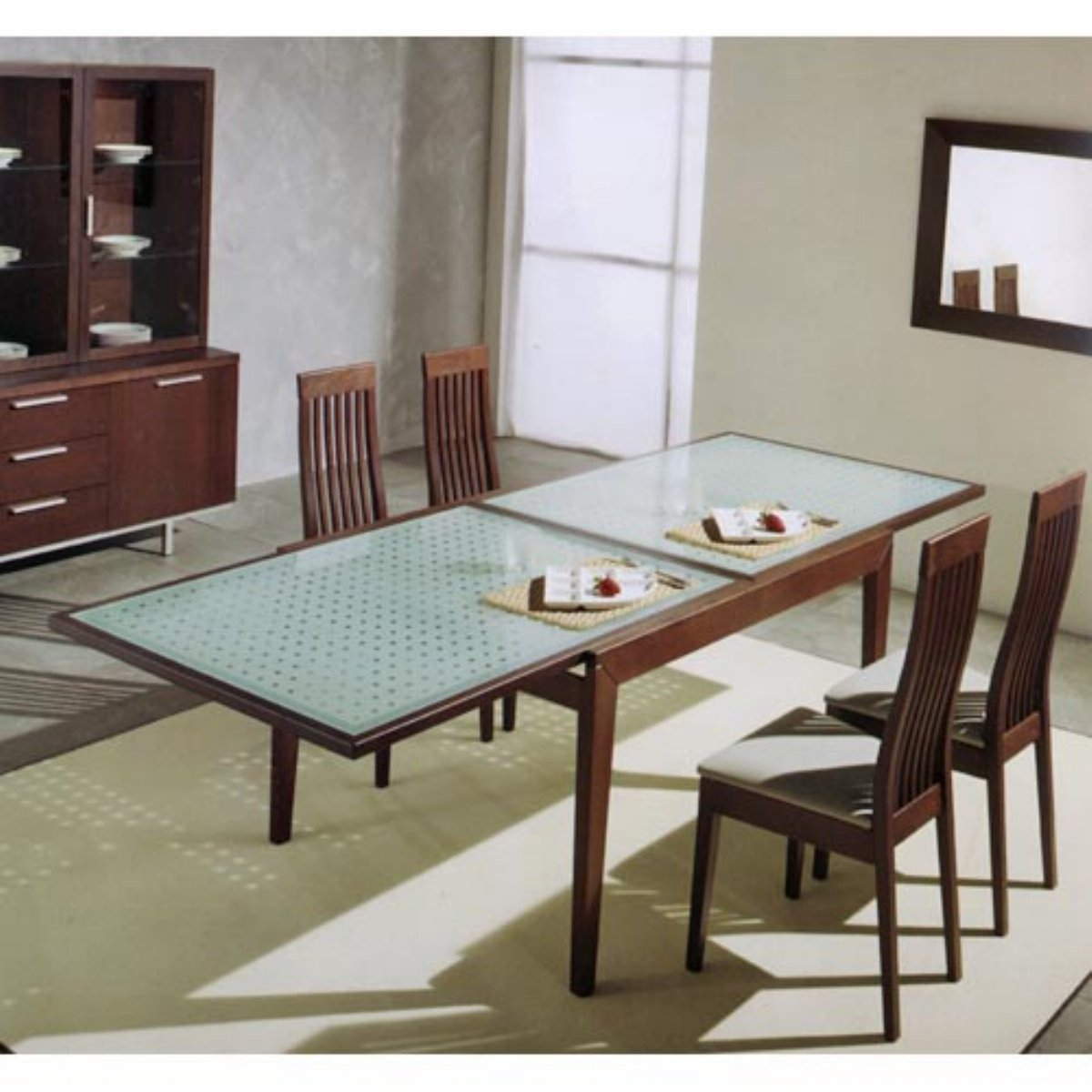 Italian Glass Dining Table Extendable Expandable Round Dining Tables