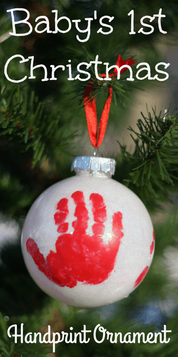 Infant Baby Girl Gifts Handprint Ornament For Baby 39;s First Christmas I Can