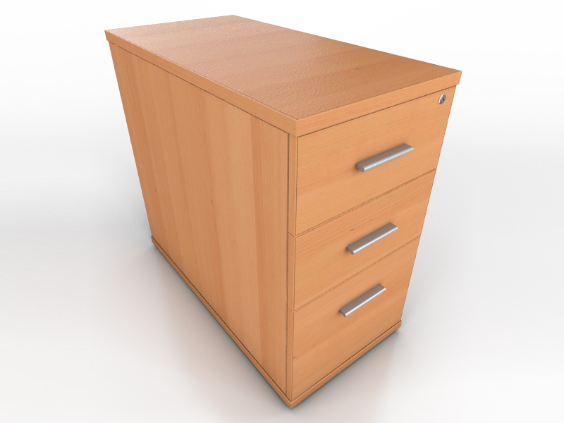 Desk Drawer Unit Maple Desk High Drawer Unit | Icarus Office Furniture