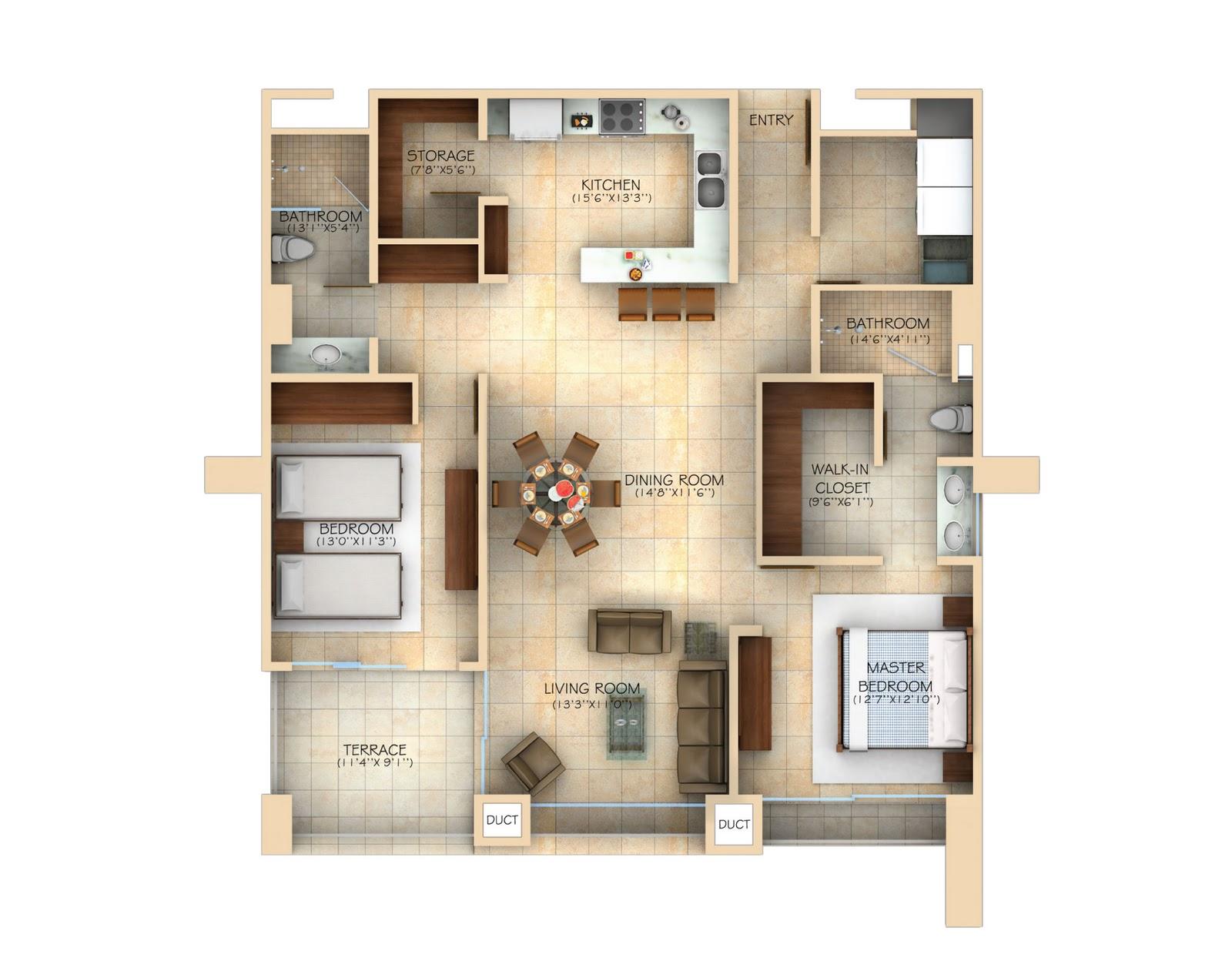 Cu ntos metros cuadrados de casa se necesitan casas ecol gicas for Cocina 15 metros cuadrados