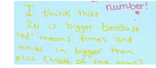 Algebra: Lesson 1 Pre-Lesson Mini-Assessment Task - Students' response 3a