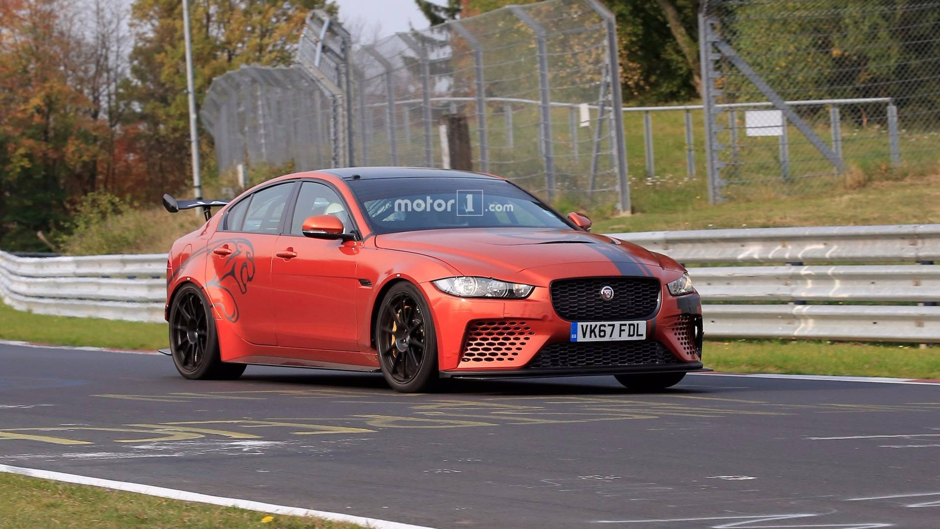 Jaguar Xe Sv Project 8 Jaguar Xe Sv Project 8 Spied On Nürburgring Gunning For