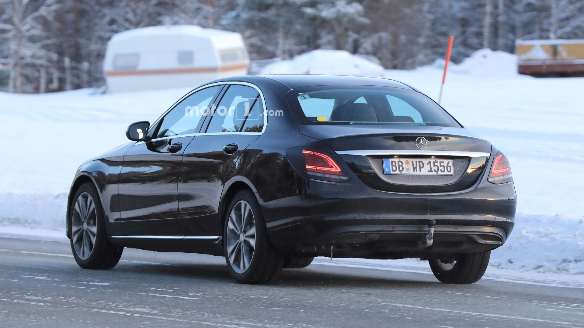 New C Class Mercedes C Class Facelift Caught Flaunting Its New Taillights
