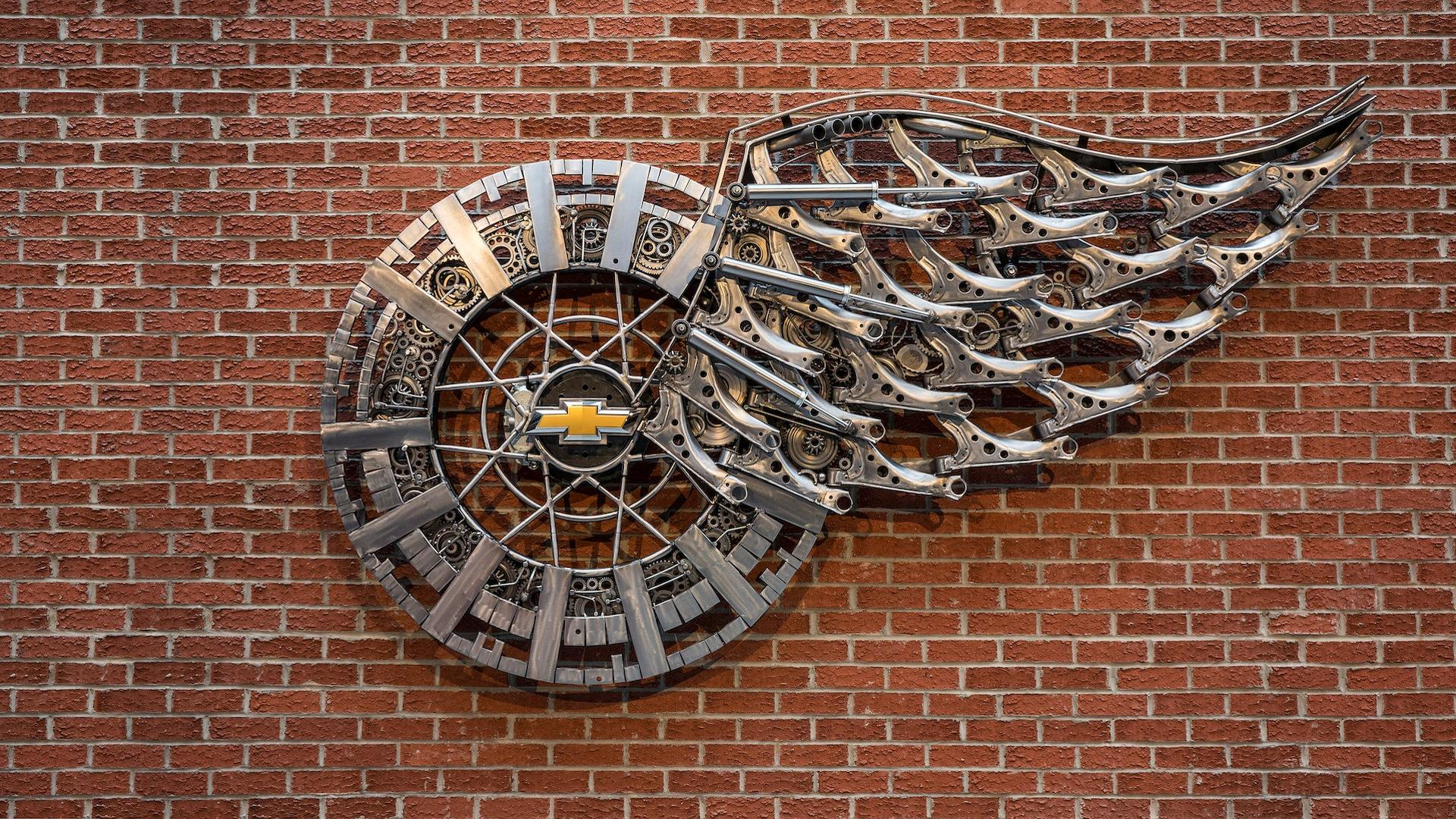 Super Cars 3d Wallpapers Chevy Honors New Detroit Red Wings Arena With Unique Sculpture
