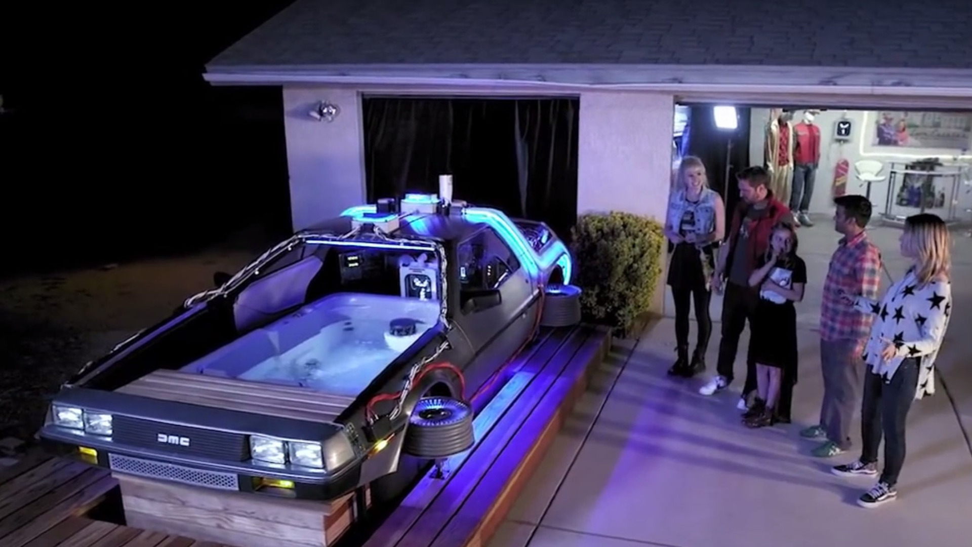 Car Toys Here's A Back To The Future Delorean Hot Tub, Because Why Not?