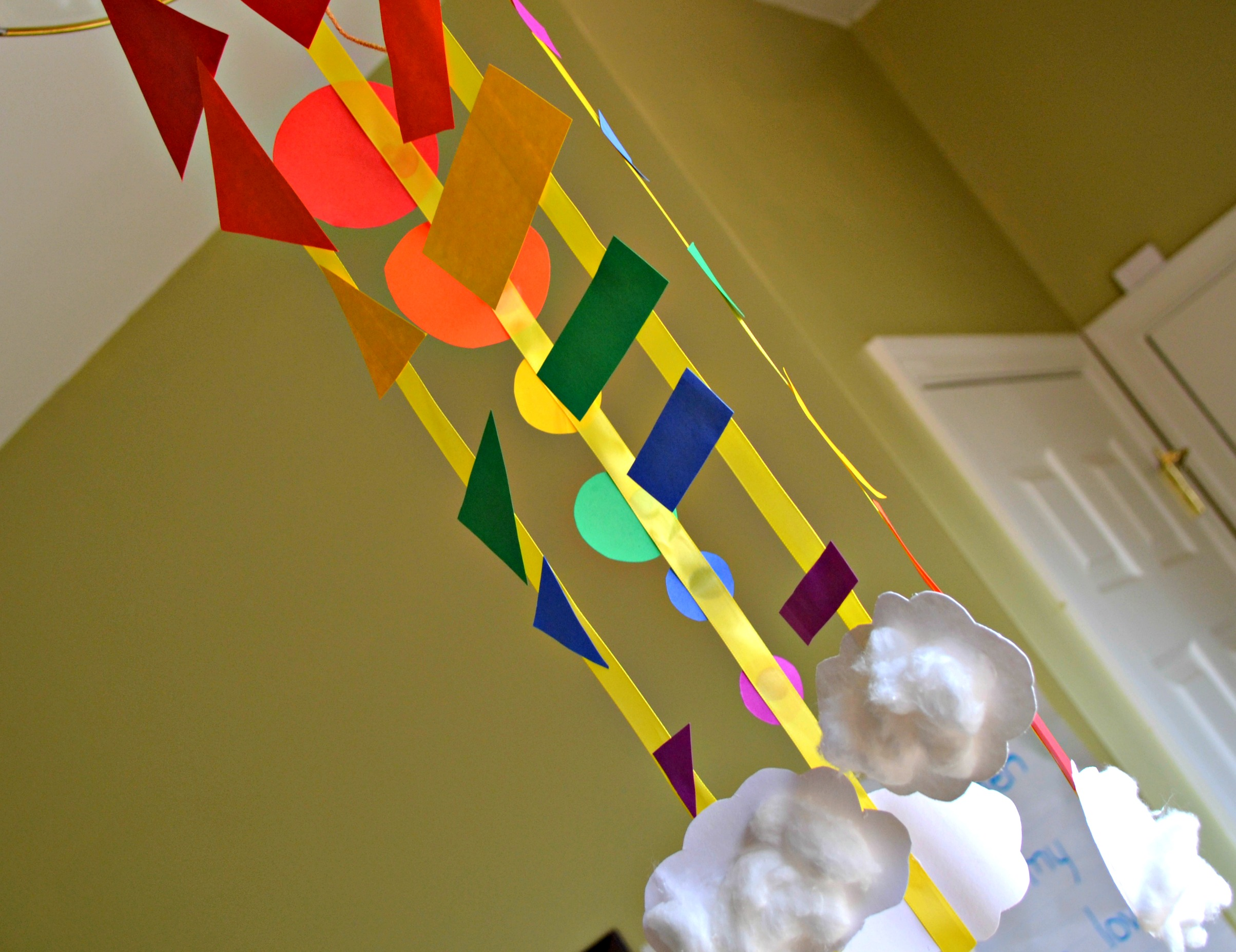 Diy Arts And Crafts Rainbow Shape Mobile