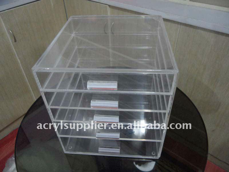 Clear Acrylic Makeup Organizer Makeup Cube Box With