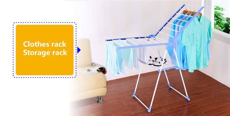 Byn Outdoor Foldable Pvc Stand Clothes Hanger Rack Dq 0820