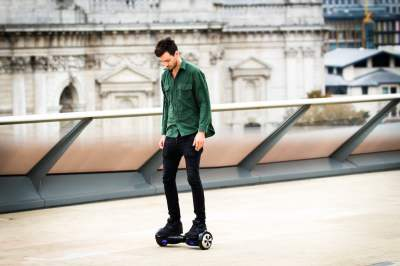 Person Riding Hoverboard