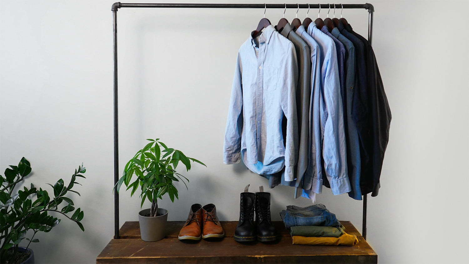 Industrial Clothing Rack How To Easily Make A Diy Industrial Style Clothing Rack Digital