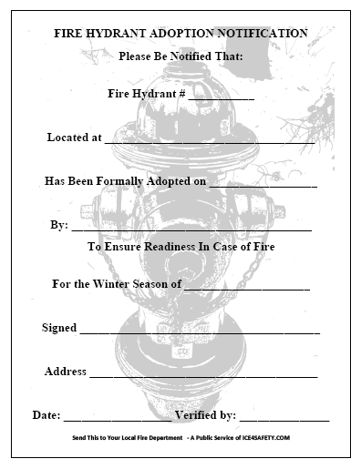winter fire safety ICE4SAFETY - fire service application form