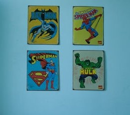 vintage superhero wall prints