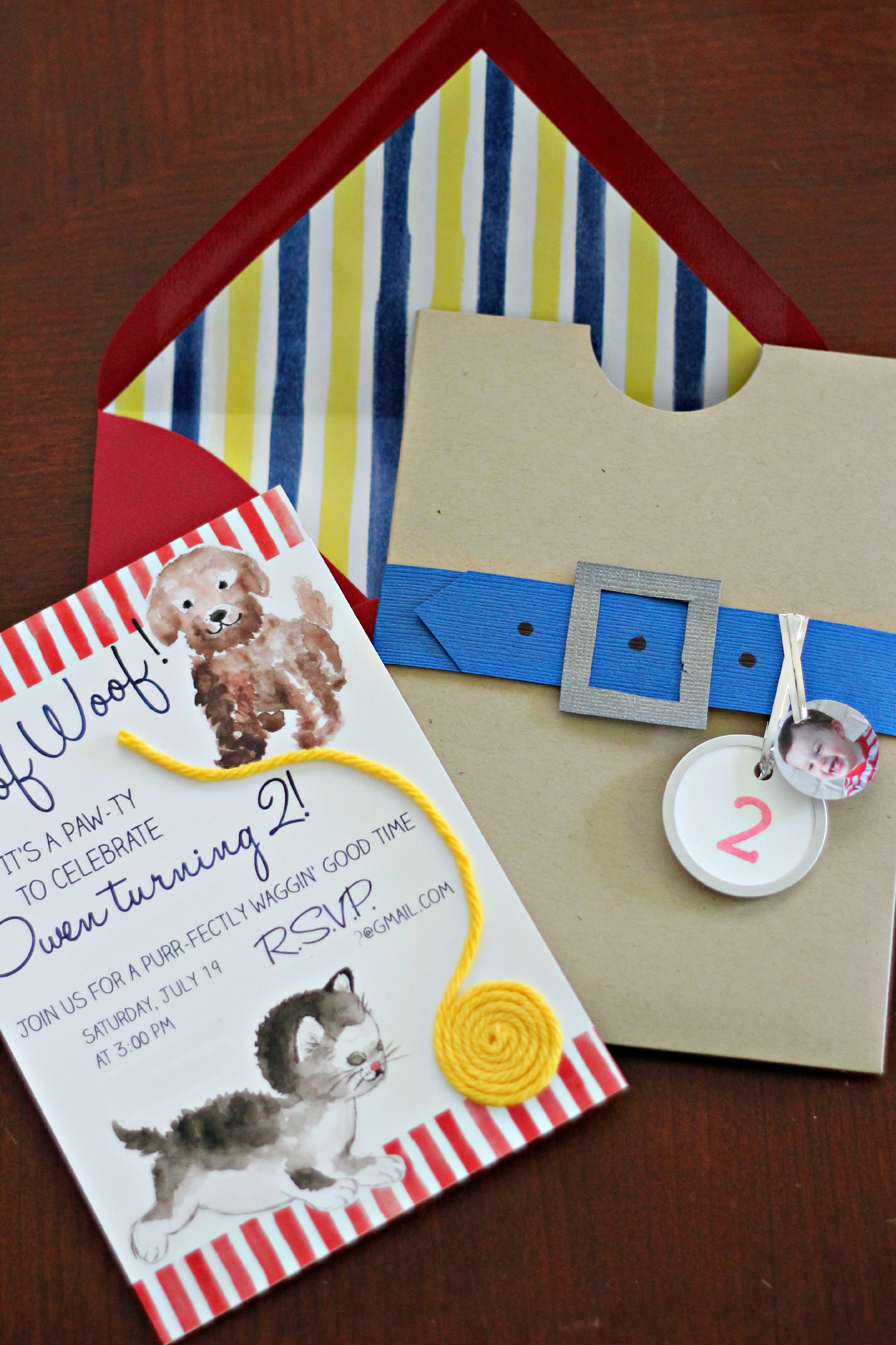 A Purr-fect Invitation for Owen's Second Birthday Party