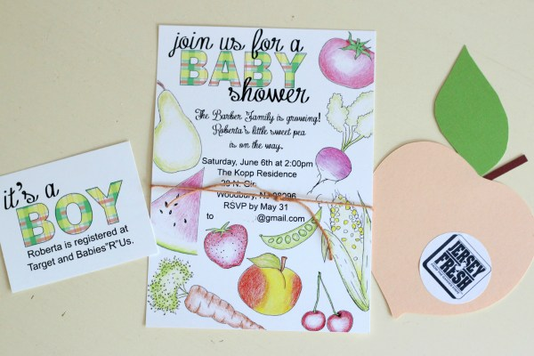 Rustic Farmers Market Baby Shower