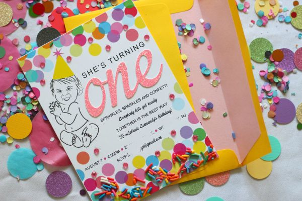 Sprinkles, Sparkles and Confetti First Birthday Party