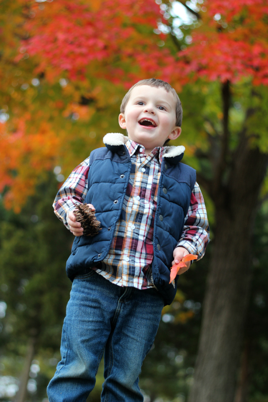 fall photos toddler boy