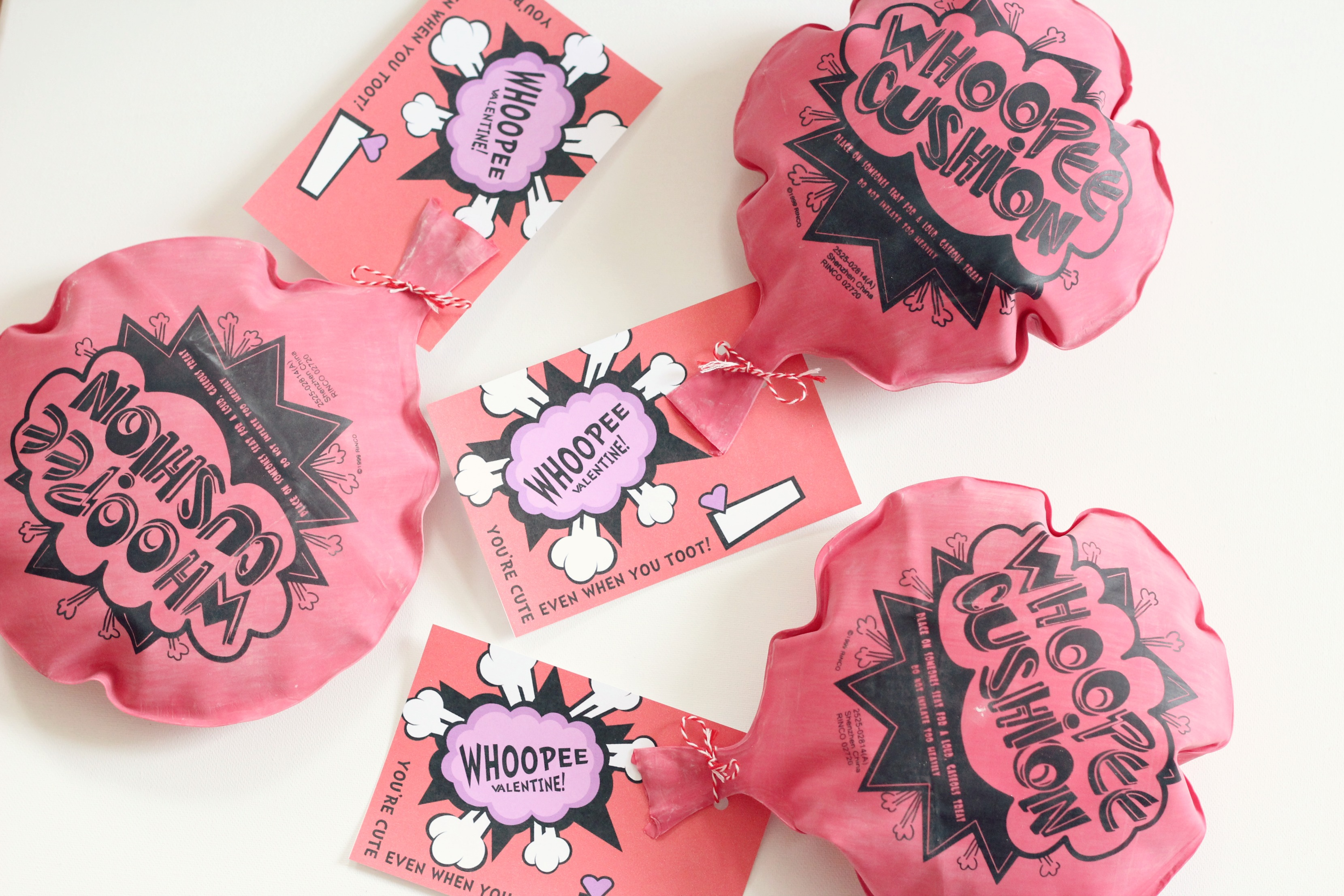 Whoopee Cushion Valentines with Free Printable