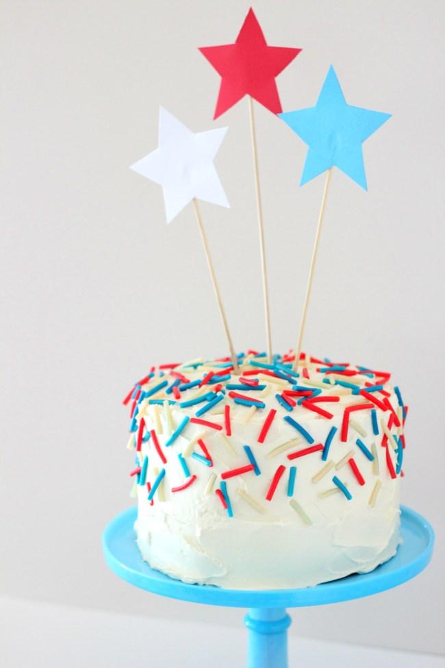 4th of July Confetti Cake