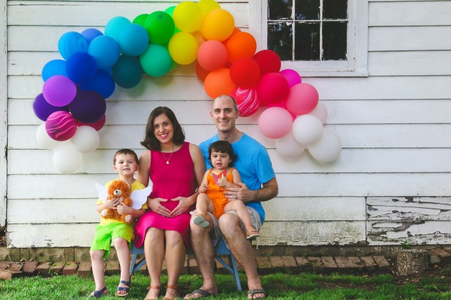 Rainbow Baby Pregnancy Announcement