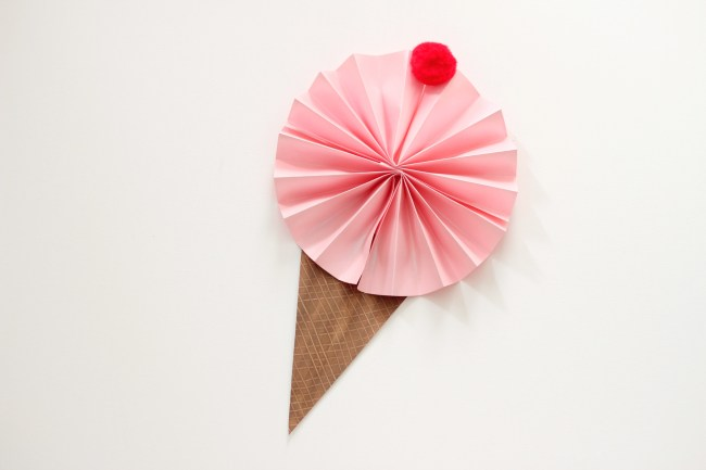ice cream cone fan craft