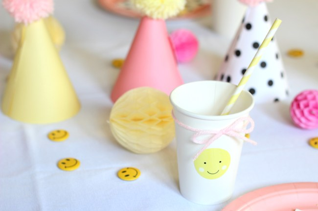smiley face cup