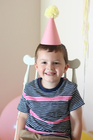 smiley face party owen party hat