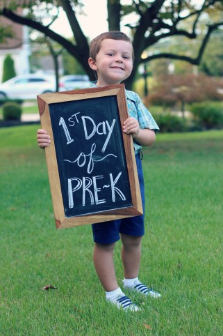 First Day of Preschool