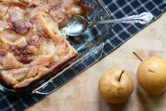 Asian Pear Cobbler Dessert