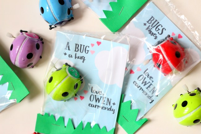 Love Bug Valentines with Free Printable Cards