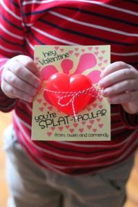 Heart Splat Ball Valentines