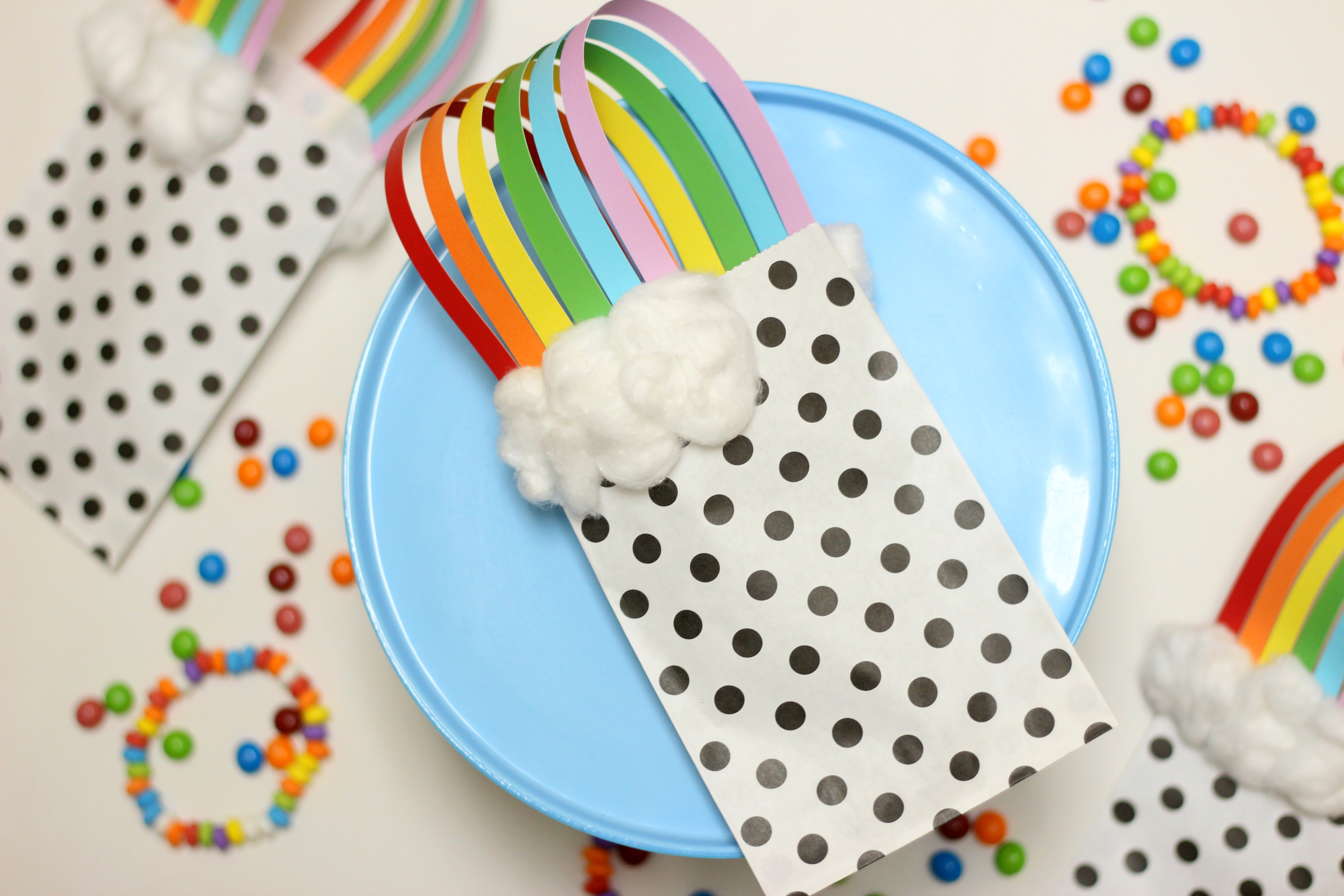 Rainbow Treat Bags {A Magically Colorful Favor}
