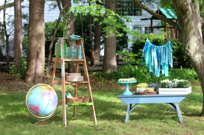 Earth Day Party - outdoor setup