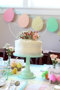 Easter egg dying party cake