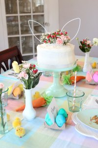 easter egg dying party tabletop