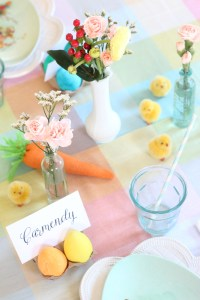 easter egg party flowers and chicks