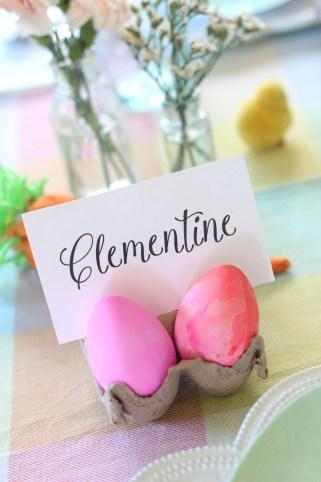 egg carton easter place card