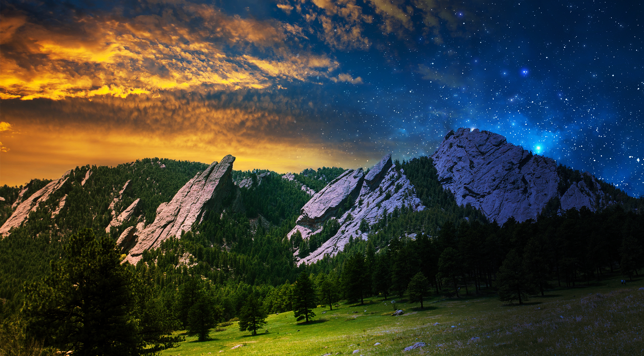 4k Fall Mountain Wallpaper Mystical Mountains Photo Composition In Photoshop