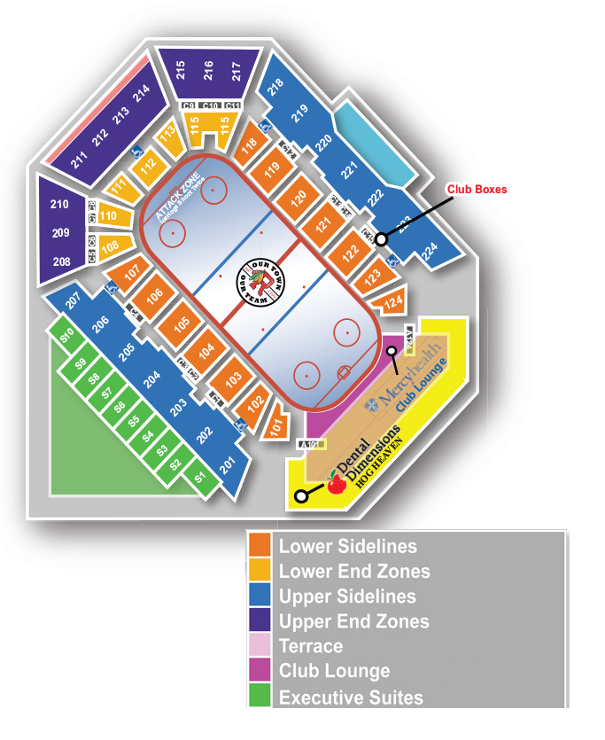 Official Website of the Rockford IceHogs Seating Map