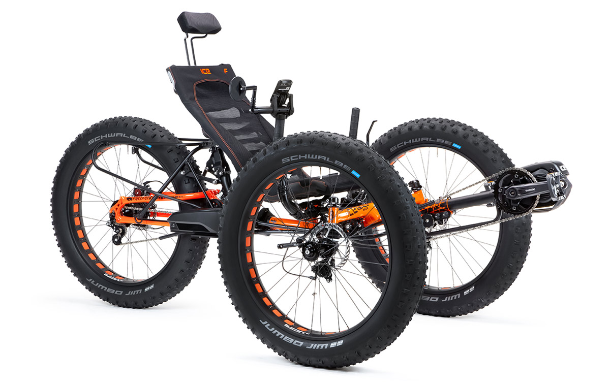 E Full In Ice Full Fat Off Road Expedition Tough Recumbent Folding Trike