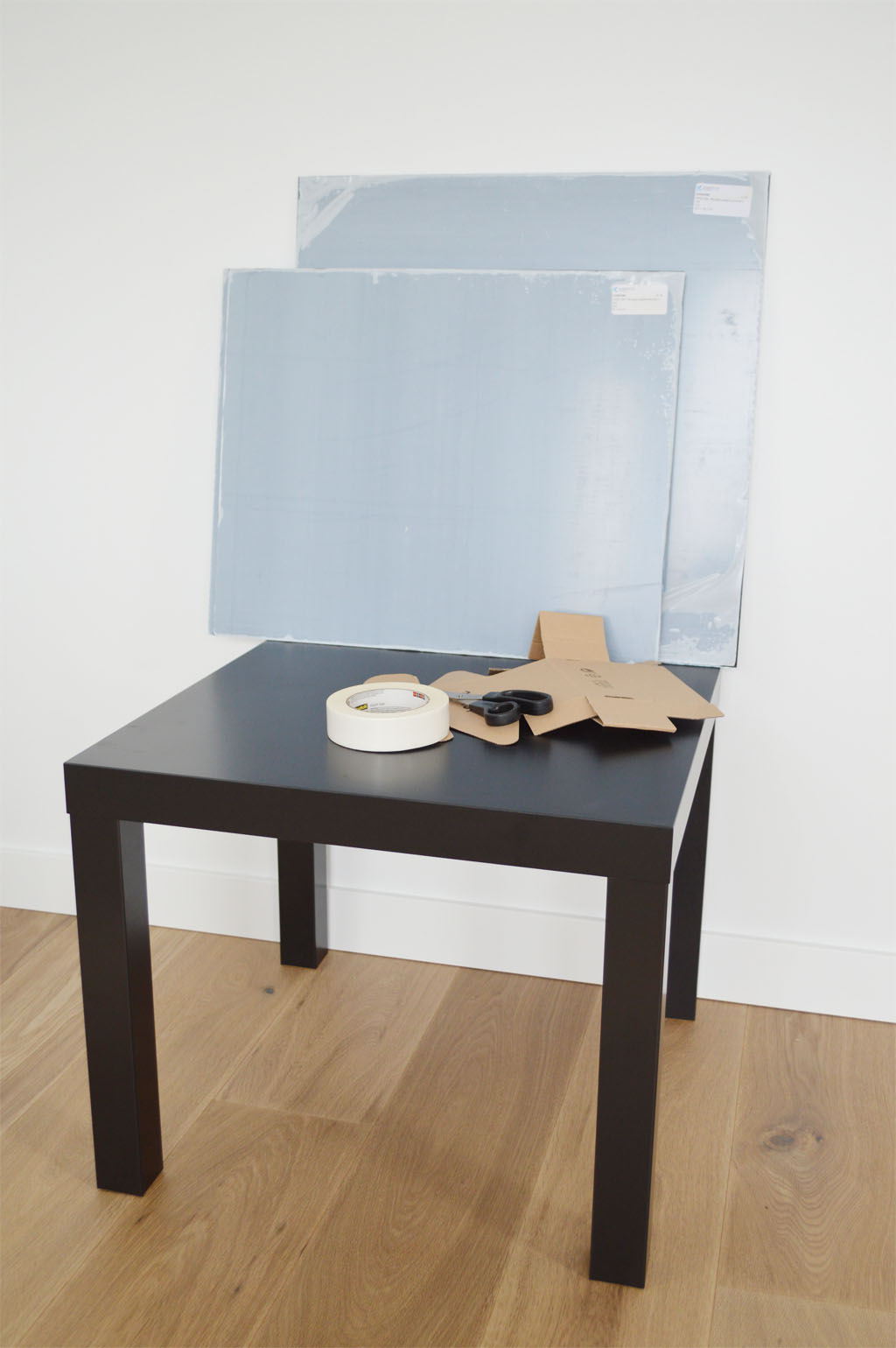 Designer Tisch Ikea Hack Lack Table With Plexiglas Ikea Hack Lack Tisch Mit