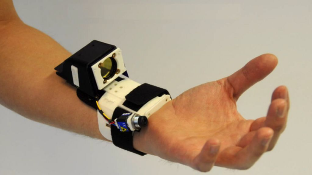 Wallpaper Teknologi 3d Microsoft S Digits Hand Gesture Sensor Bracelet Detailed