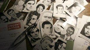 Photographs of those who disappeared during Argentina's military dictatorship