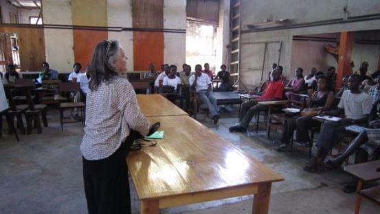 Maria Grette in Uganda